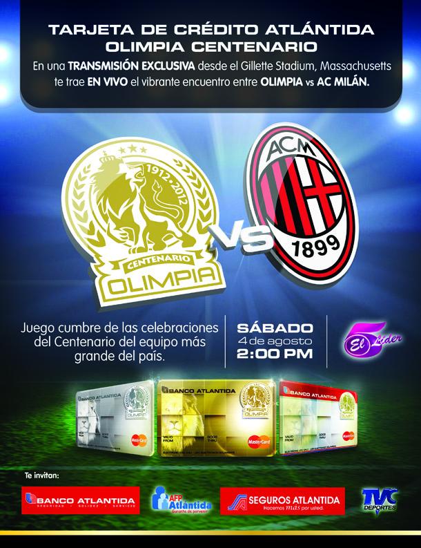 Transmisión en vivo: Olimpia vs AC Milán