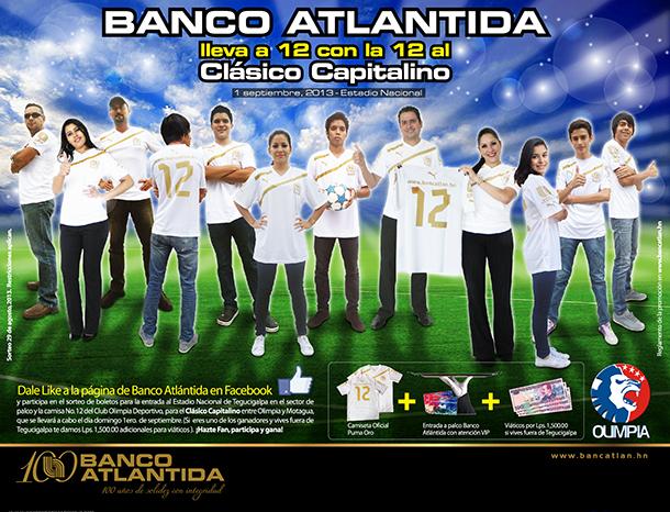 Banco Atlántida lleva a 12 con la 12