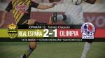Real España 2-1 Olimpia | Jornada 12