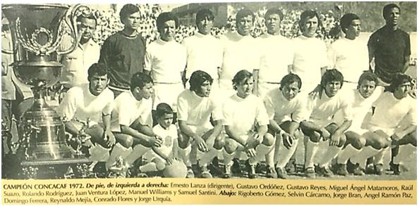 Jorge Bran en 1973, Olimpia Campeón de CONCACAF.
