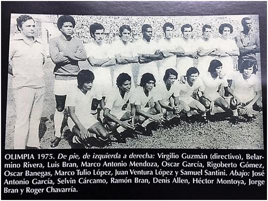 Olimpia 1975, Jorge Bran con sus hermanos Luís y Ramón (Pilín).